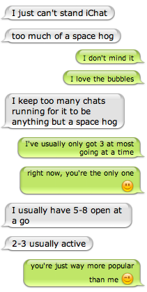 Chat on iChat
