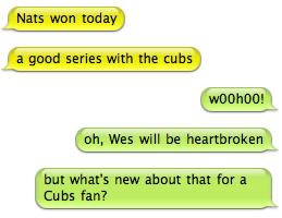 Nats vs Cubs IM