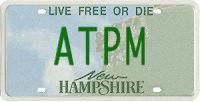 ATPM license plate