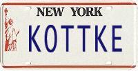 Kottke license plate