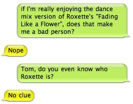 Roxette IM conversation