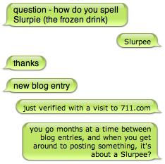 Slurpee IM conversation